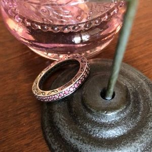 RETIRED Pandora Eternity Salmon CZ Ring